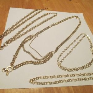 Origami Owl Jewelry - origami owl necklace lot of 5 new gold tone